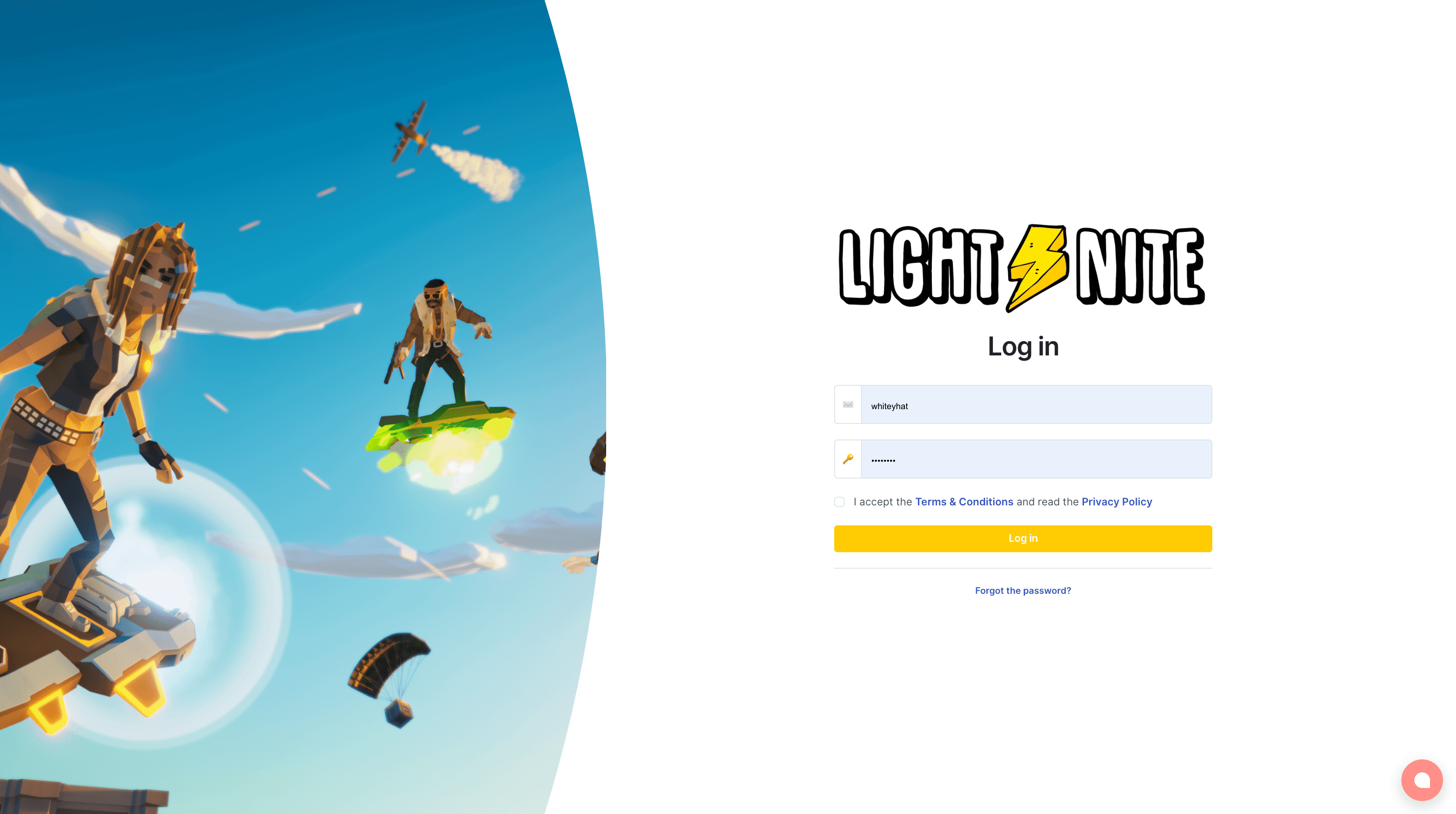 LIGHT⚡NITE – New login page