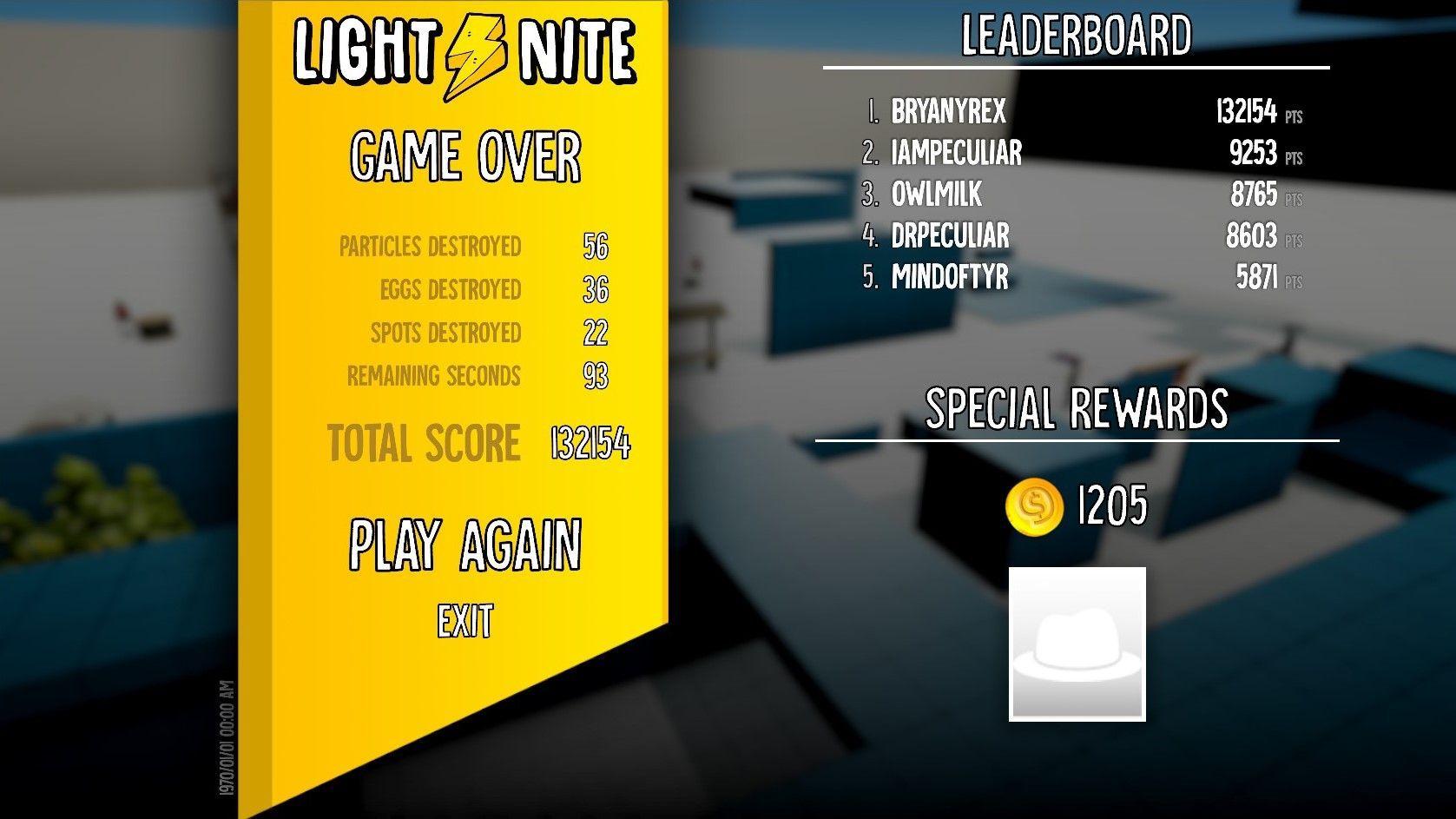 LIGHT⚡NITE GAME - In-Game Leaderboards