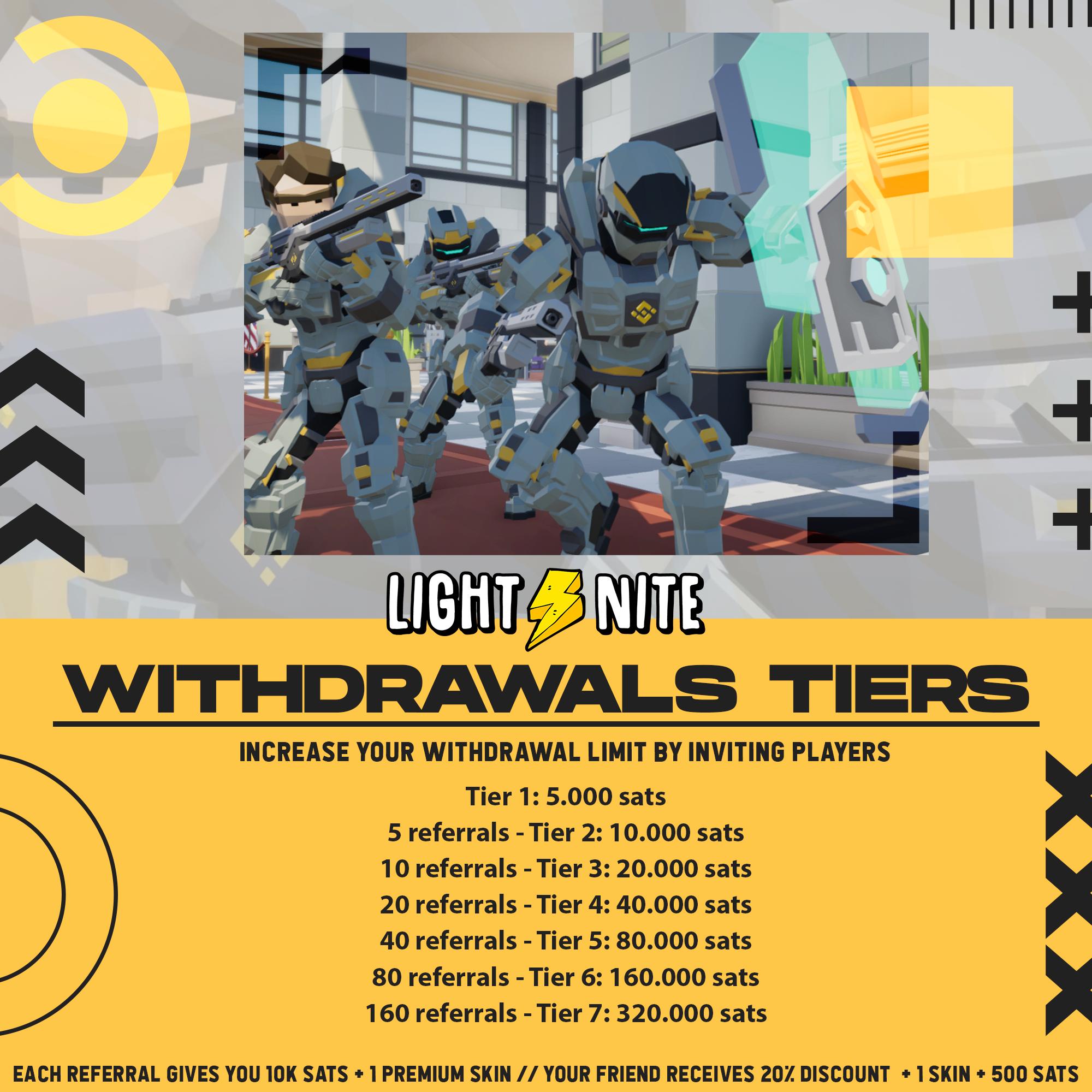 LIGHT⚡NITE STORE - Witdrawal Tiers