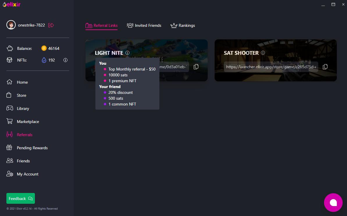 LIGHT⚡NITE GAME - Store menu